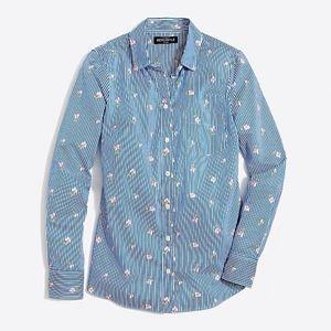 J. Crew 🌿Classic Button Down Shirt Printed Cotton